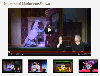 Interpreted Marionette Shows