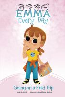 Emma, fingerspelled, Every Day Series. Picture of a young child with a cochlear implant. She has brown hair, large eyes, dressed in casual clothes and carrying a picture