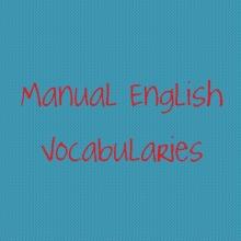 Manual English Vocabularies